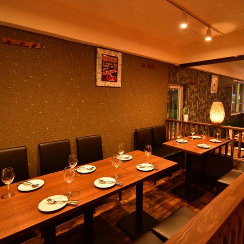 ゆったりとしたお席は団体様でもご利用可能。お気軽にお問い合わせください。宴会プランも豊富にご用意そておりますのでお客様にぴったりのプランをお選びください!