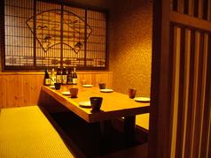 掘りごたつの完全個室を完備。周りを気にせず愉しめるプライベート空間!