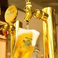 仕事帰りの一杯にピッタリの生ビールも1杯280円!(税抜)仕事終わりの至福のひと時を「鮨べろ姫路駅前店」でお過ごしください。