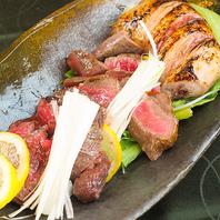 特選肉炉端の5種盛りは大人気メニューです