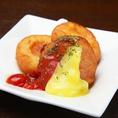 三宮の個室居酒屋「花美咲 三宮店」の人気料理一例はこちら・・・チーズたっぷりポテトもち