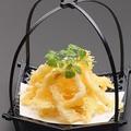 料理メニュー写真白海老のバラ天ぷら
