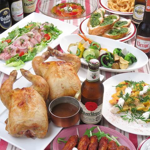 仏の星つきレストラン経験の店主が手掛ける料理とローストチキンを気軽に楽しめます♪