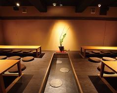 全席【完全個室】×【掘りごたつ】32名様まで可能な掘りごたつ個室。会社宴会に最適!