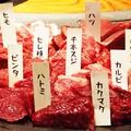 料理メニュー写真馬焼肉の盛り合わせ
