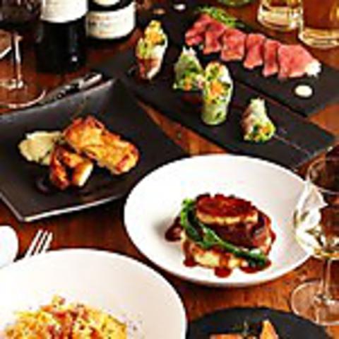 女子会・デートにおすすめ☆メインはお肉料理!イタリアンクロス5000円コース