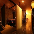 【1階】16名個室。3つのお部屋をつなげて最大16名様までのお部屋としてお使いいただけます。