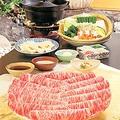 料理メニュー写真しゃぶしゃぶ (和牛特選霜降肉)