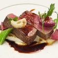 お肉料理もお任せで♪ 店主の目利きによって仕入れた、お肉を熟練の腕で調理をしております。