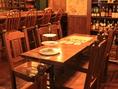 6人掛けテーブル席