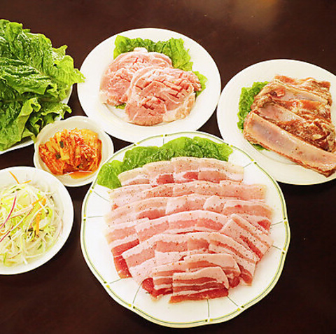 【サムギョプサル】食べ放題◆全10品◆1,980円◎女性に人気♪