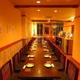 ご宴会用の個室もございます!!最大30名様OK!!飲み放題付きコースは3500円~。 ソーシャルディスタンスしっかり保ちまつ!
