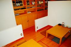 4名様用のお席です。気の合う仲間と楽しい時をお過ごしください。