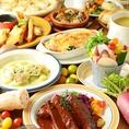 飲放題付きコースは3000円~。宴会、女子会、誕生会、合コンなどに