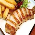 料理メニュー写真あぐー豚の厚切りロースステーキ