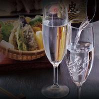 日本酒や銘柄焼酎、ワインも楽しめるプレミアム飲み放題