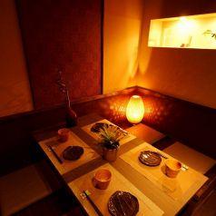 女性に大人気♪ゆとりのある4名様個室♪和の落ち着いた空間でゆず料理をご堪能下さい。