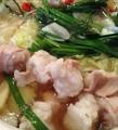 料理メニュー写真ホルモン鍋2人前(塩/しょうゆ)