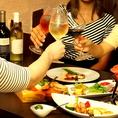 女子会、誕生日会などに、、、素敵なディナーを演出いたします☆
