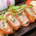 料理メニュー写真豚バラのチーズしそ巻きカツレツ