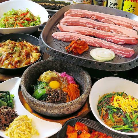 野菜をたっぷり使った本場韓国料理をお楽しみいただけます!