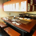 気楽に使いやすいテーブル席は学校や会社帰りにもサクッと寄れる雰囲気★