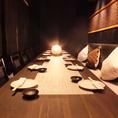 ◆6~10名様用テーブル◆接待やご家族でもご利用して頂きやすい大きめのテーブル席です。大切なお席やお仕事の際にもご利用して頂きやすい店づくりを目指しています。