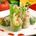 料理メニュー写真韓国式生春巻き/豚キムチ炒め