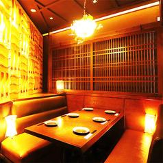 ◆4~6名様個室◆飲み会はもちろんのこと、個室なので接待などでもご利用頂くことが多数ございます!空間づくりからこだわったくつろぎの大人空間です♪大人数で得するクーポンもご用意しておりますので、ぜひご利用ください!