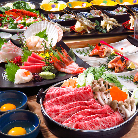 【喜コース】2時間飲み放題付き+お料理8品 6000円(税込)