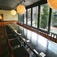 【限定1室】20名様の窓側宴会個室こちらは接待や会社宴会でのご利用が多いお席です。開放的な大きな窓が特徴の、ゆったりとしたつくりのお部屋でお食事をお楽しみいただけます。飲み放題付き宴会コースは4500円からご提供!ご宴会にご利用下さいませ。