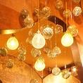 可愛いオシャレな照明は、雰囲気を盛り上げてくれます♪