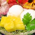 ココナッツやマンゴーといったトロピカルなデザート♪
