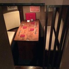 3~4名様用の半個室。