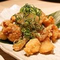 料理メニュー写真鶏皮の柚子こしょうポン酢