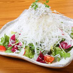 釜揚げしらすと大根のサラダ