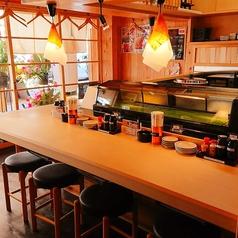 職人が握るお寿司を目の前で堪能できるカウンター席もオススメです!!