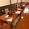 各種お席をご用意。狼煙ではカウンター席・テーブル席・掘りごたつ席をご用意しています。