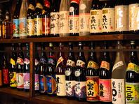 希少焼酎から日本酒まで数多く取り揃えております。