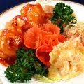 料理メニュー写真二種大海老の盛り合わせ(チリ&マヨ)