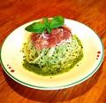 料理メニュー写真【夏季限定!6月~】 生ハムとキャベツの冷製バジルパスタ(サラダ・ドリンク付)