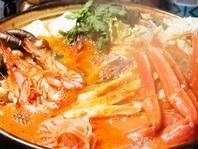 特製海鮮チゲ鍋or海鮮鍋がプラス500円!