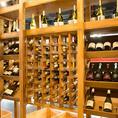 ワインセラーから自由に選べるボトルワインやスパークリングワインの総数なんと80種類以上!各種飲み放題コースも豊富にご用意しております♪