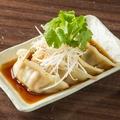 料理メニュー写真ポン酢で食べるゆで餃子(4個)