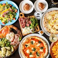 シェフ自慢のイタリア料理の数々