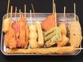 料理メニュー写真玉ねぎ/白ネギ/ししとう/なす/山芋/レンコン/にんにく/ウインナー/ぎんなん/紅しょうが