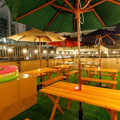【Terrace Parasol席】6名~15名様でご利用いただけるお席です。