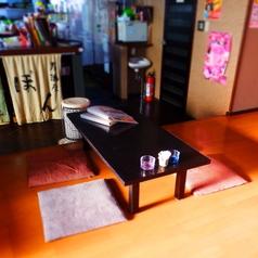 4名様のお座敷席です。※テーブルの移動・連結が可能ですので、大人数宴会もOKです。