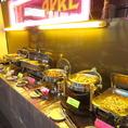 好きな料理を思う存分♪バオキング形式だから、お腹の空き具合やお酒に合わせてガッツリ楽しめる!スパイスが効いた本格エスニック料理や唐揚げ・枝豆といった定番のおつまみまで、幅広くご用意しております。