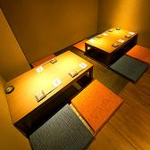 ●3名・4名・6名用の掘りごたつ。女性同士のお食事や友人との飲み会に